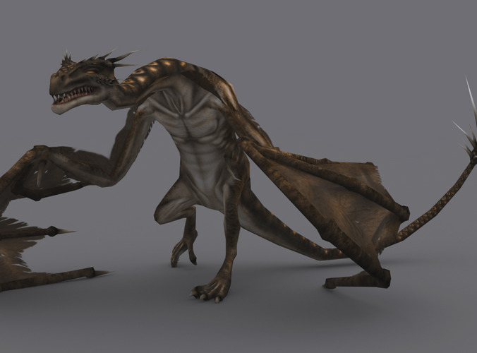 WYVERN GAME READY ANIMATED MODEL3D model