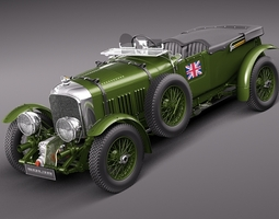 Bentley 4.5 Litre Blower 1929 3D Model
