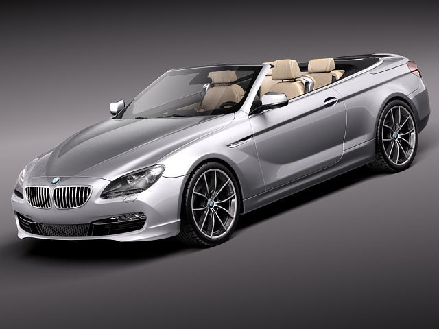 Bmw 6 Convertible 2012 3d Model Obj 3ds Fbx C4d Lwo