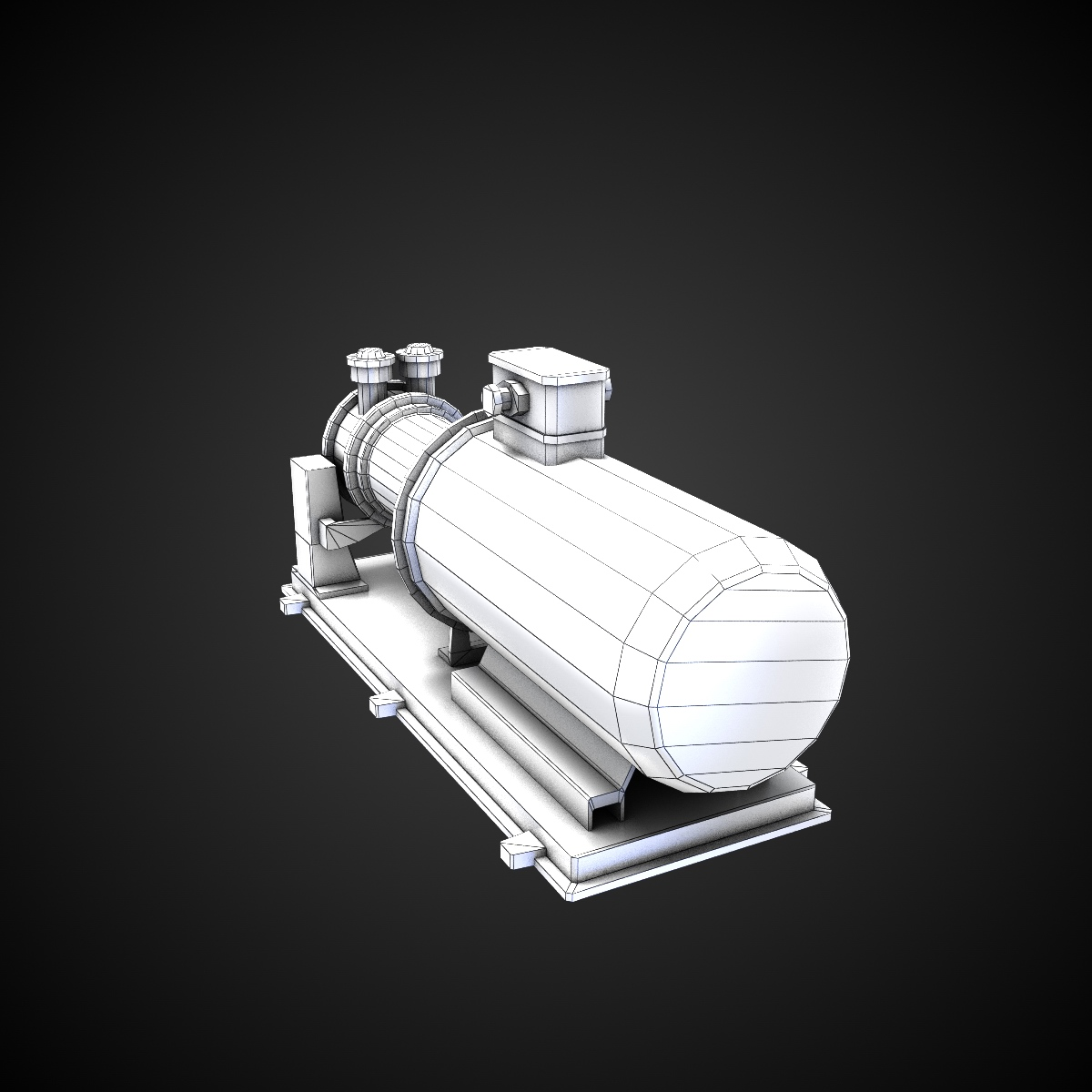 3D model RPG-7 VR / AR / low-poly MAX OBJ FBX LWO LW LWS