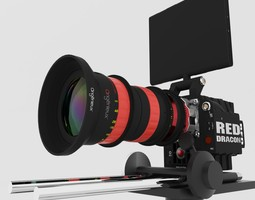 RED DRAGON 6K Angenieux Optimo DP 30-80mm T2 8 3D Model