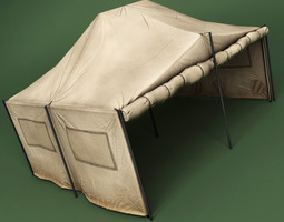 low-poly tent model