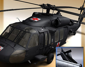 3D UH 60 Blackhawk Military Helicopter