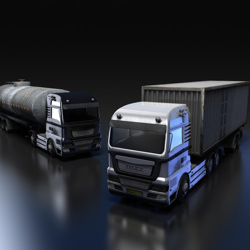 Flat-nose Truck3D model