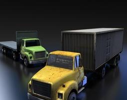 Truck Tractor 3D Model
