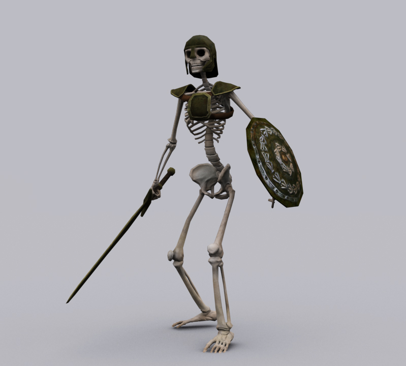 3D model SKELETON KNIGHT GAME READY ANIMATED MODEL VR / AR / low ...