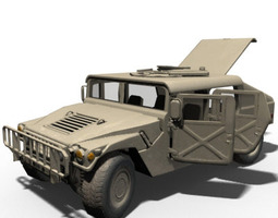 HMMWV Military Humvee Normal Mapped 3D model