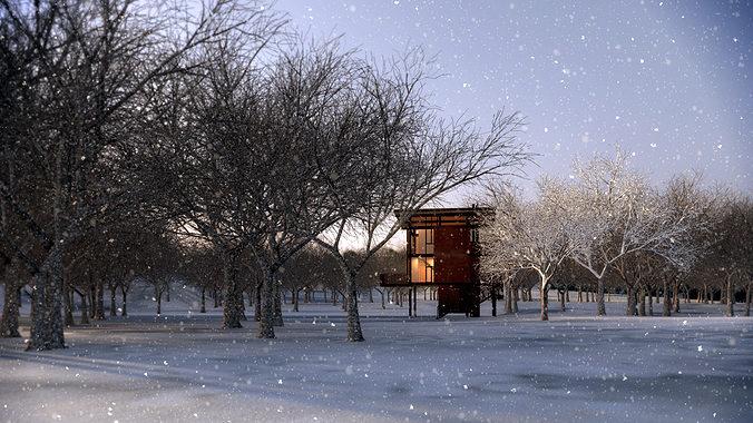 3d architecture challenge-shelter 3d model max 1