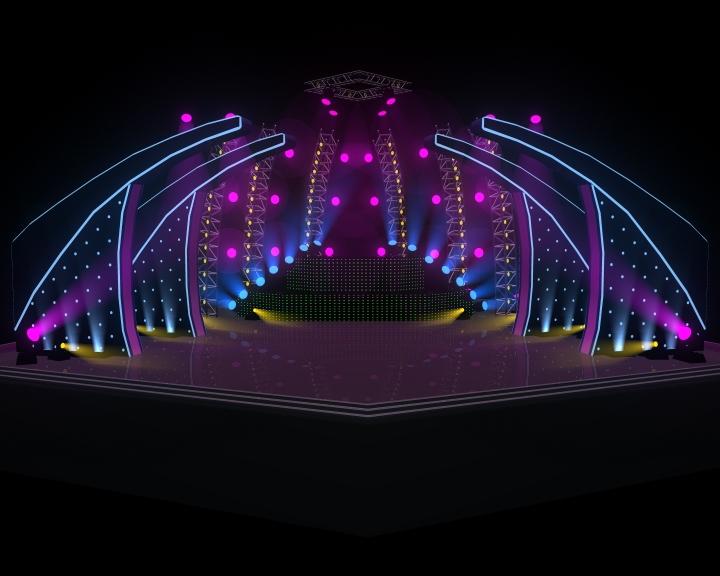 Concert Stage 3D Model - CGTrader.com