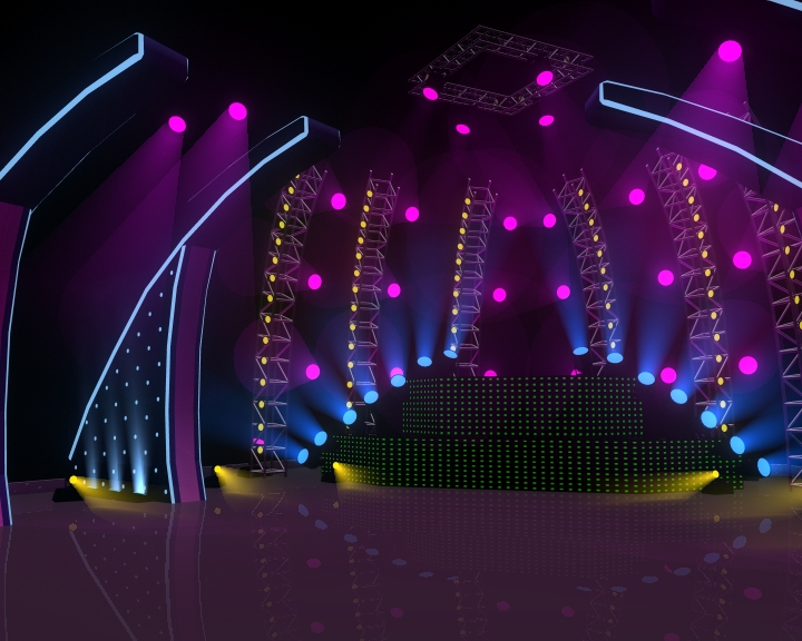 Concert Stage 3D Model CGTradercom