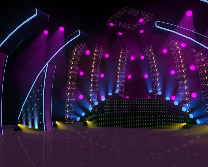 Concert Stage 3D Model CGTradercom