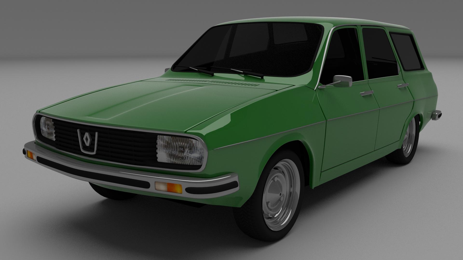 Renault 12 Dacia 1300 Estate 3d Model Obj Blend Dae