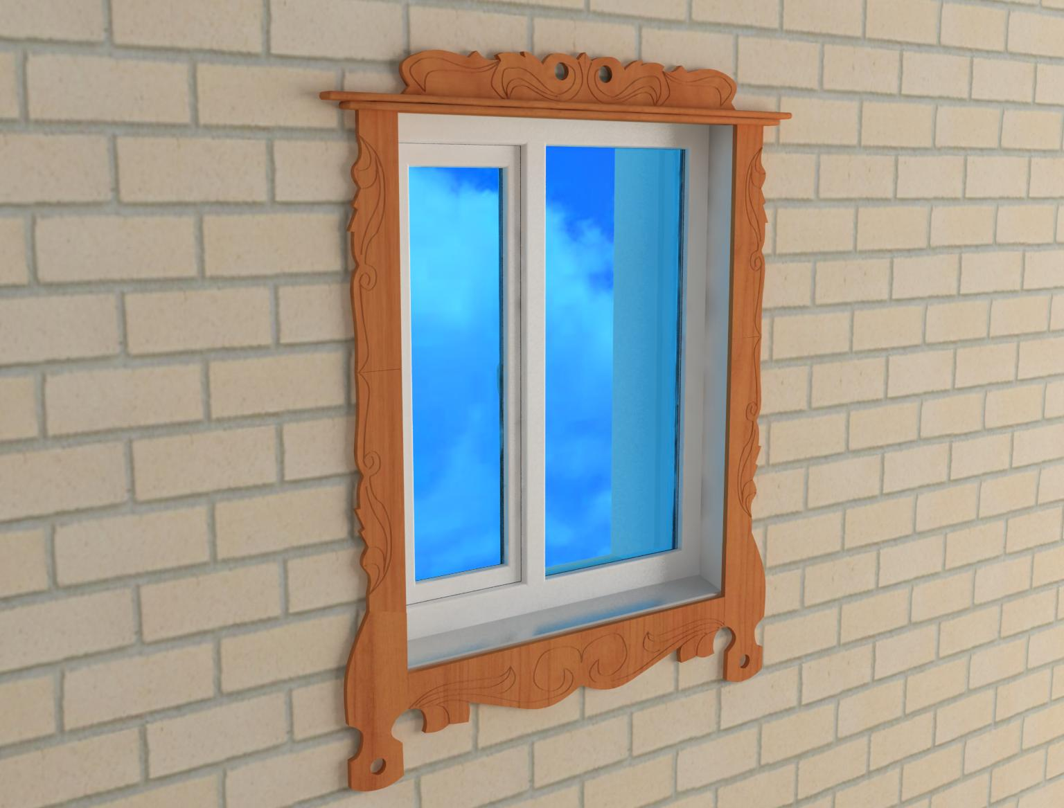 Jamb on the window 3d model 3ds for Window jamb design