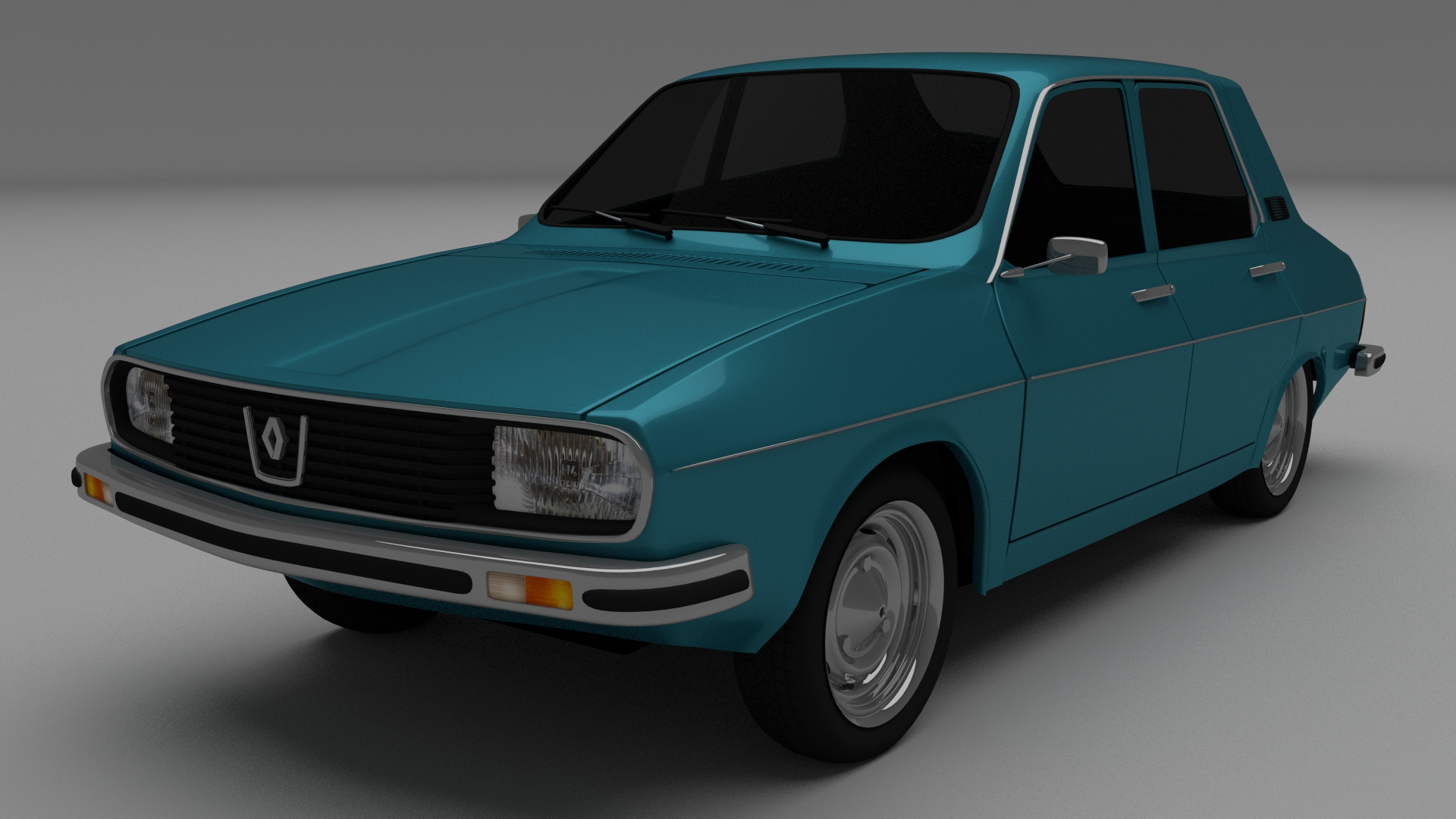 Dacia 1300 Renault 12 Pack 3d Model Blend Dae Mtl