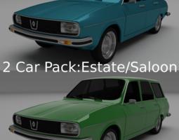 Dacia 1300 Renault 12 Pack 3D Model