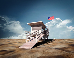 Beach Lifeguard Station 3D Model