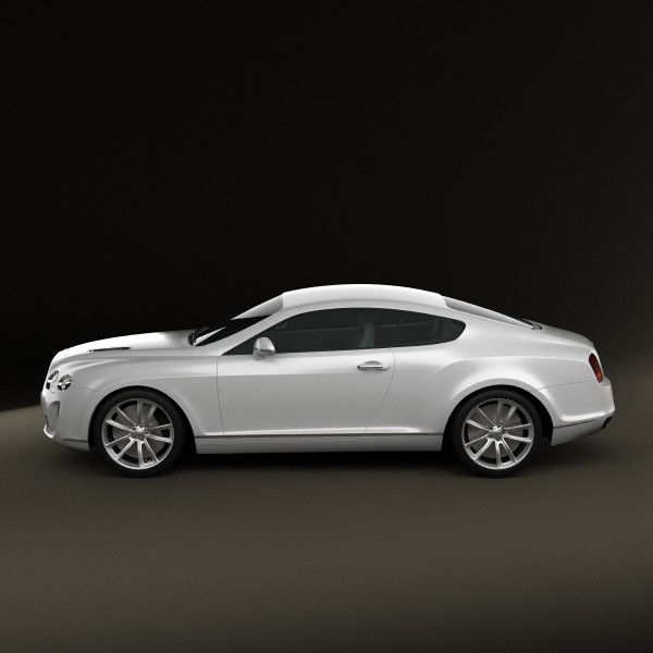 Bentley Continental Supersport Coupe 3D Model MAX OBJ 3DS