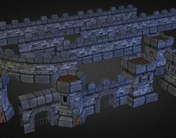 Medieval Stone Castle Pack 3D asset