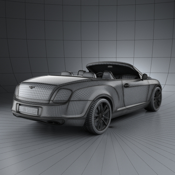 Bentley Continental Supersport Convertible... 3D Model MAX