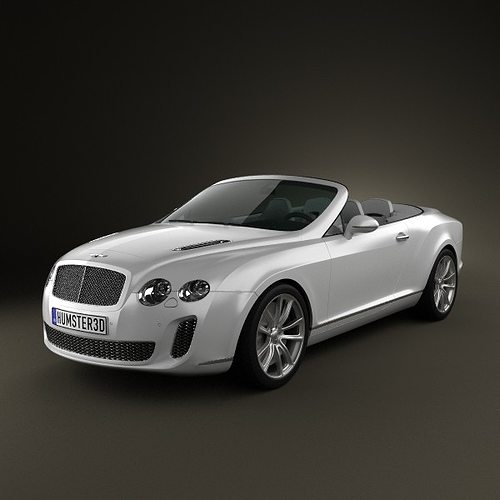 bentley continental supersport convertible inshare 3d model max obj 3ds fbx c4d lwo lw lws 1