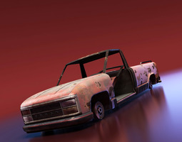 junkyard pickup 3d model realtime