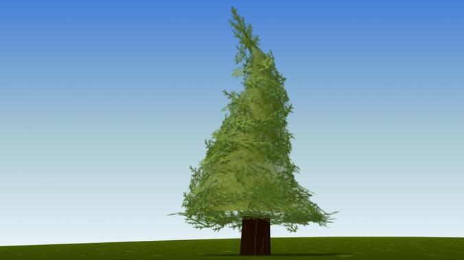 cartoon fir tree3D model