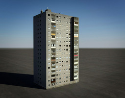 tower block house 3D Model