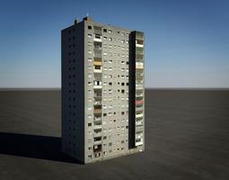 tower block house 3D Model