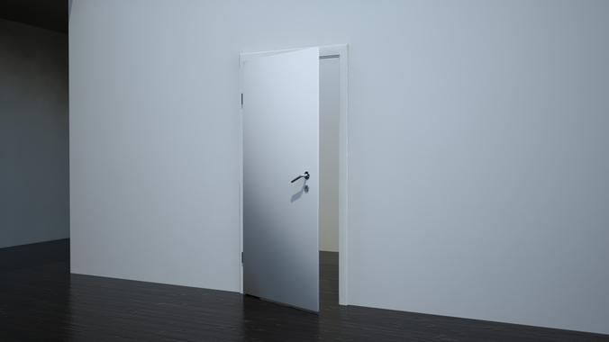 Standard white door3D model