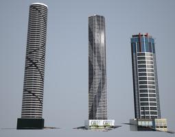 3D asset Tallest Brisbane s towers - Low poly