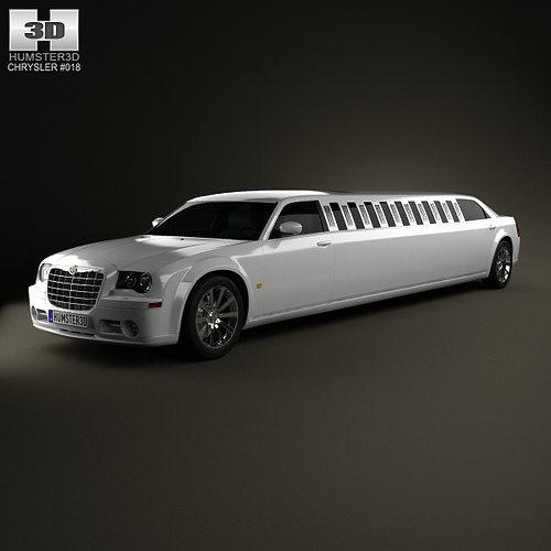 3D Chrysler 300C Limousine 2009