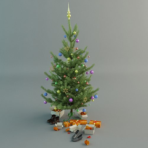 christmas tree 3d model max obj mtl 1