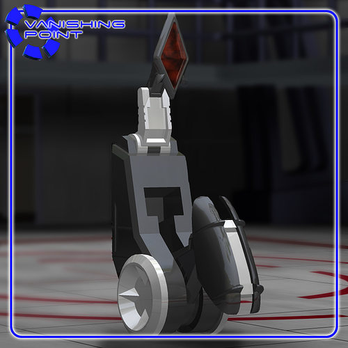 beebo the service robot for poser 3d model obj mtl pz3 pp2 1