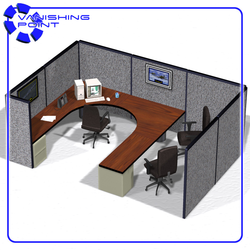 Office Cubicle For Poser 3d Model Rigged Pz3 Pp2
