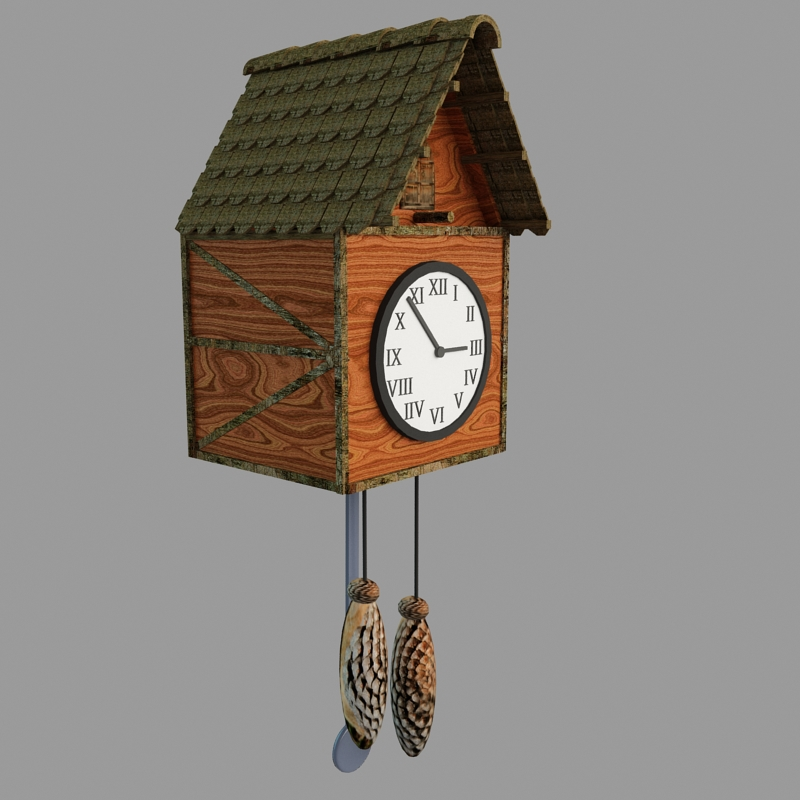 Cuckoo clock 3d model max How to make a cuckoo clock