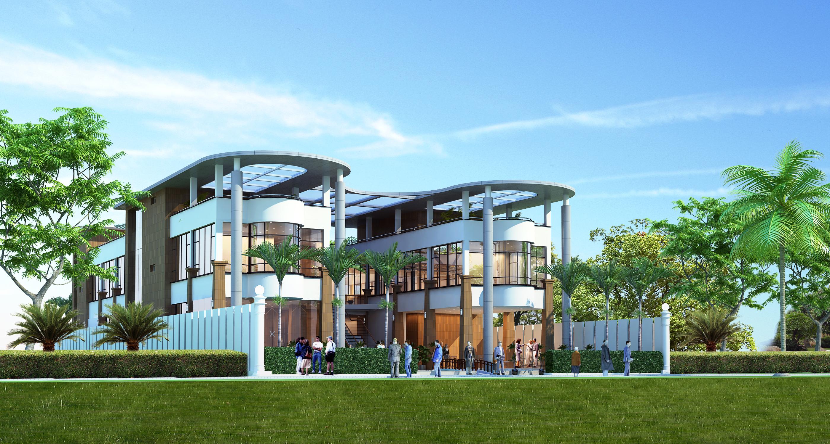 Restaurant building with interior 3d model 3d model max - 3d max models free download exterior ...