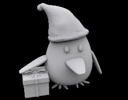 Penguin gift 3D print model