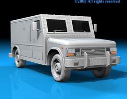 3D model Bank truck