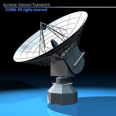 antenna satellite 3d model obj mtl 3ds c4d dxf 1