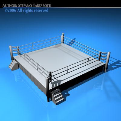 Boxing Ring 3d Model Obj 3ds C4d Dxf 4