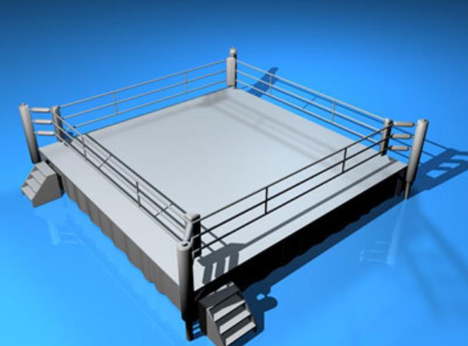 Boxing Ring 3d Model Obj 3ds C4d Dxf Cgtrader Com