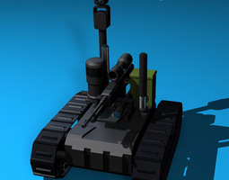3d model army recon robot