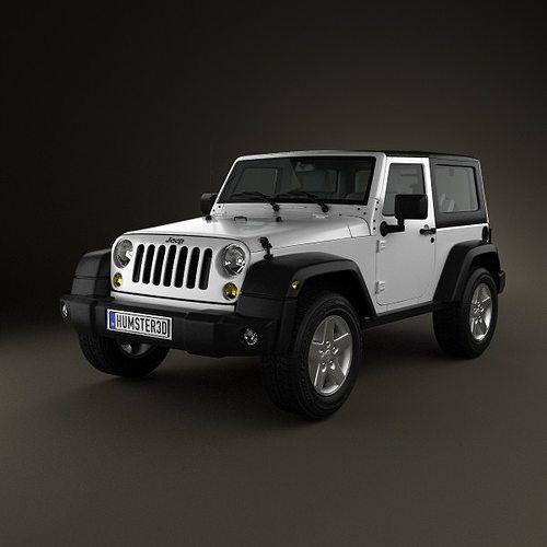 jeep wrangler rubicon hardtop 2010 3d model cgtrader. Black Bedroom Furniture Sets. Home Design Ideas