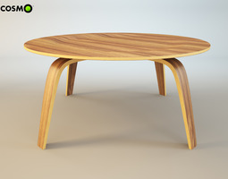 3D model Coffee table Molded Plywood