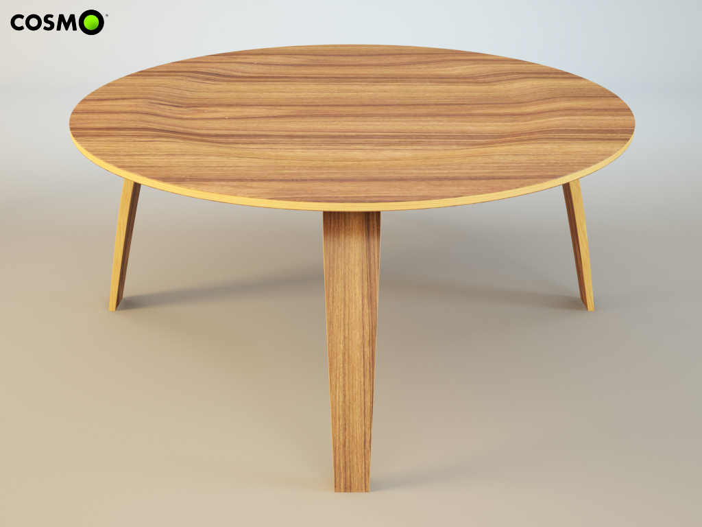 Coffee Table Molded Plywood 3d Model Max