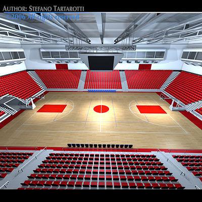 basketball arena 3d model obj mtl 3ds c4d dxf 1