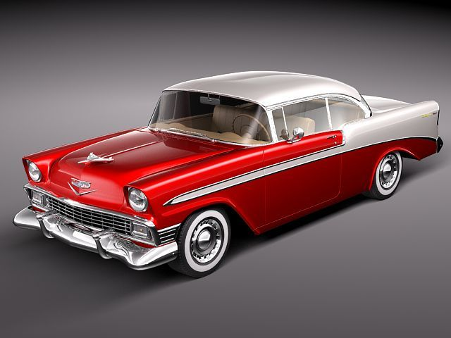 Craigslist Dc Cars >> Chevrolet Bel Air 1956 hardtop coupe 3D Model .max .obj ...