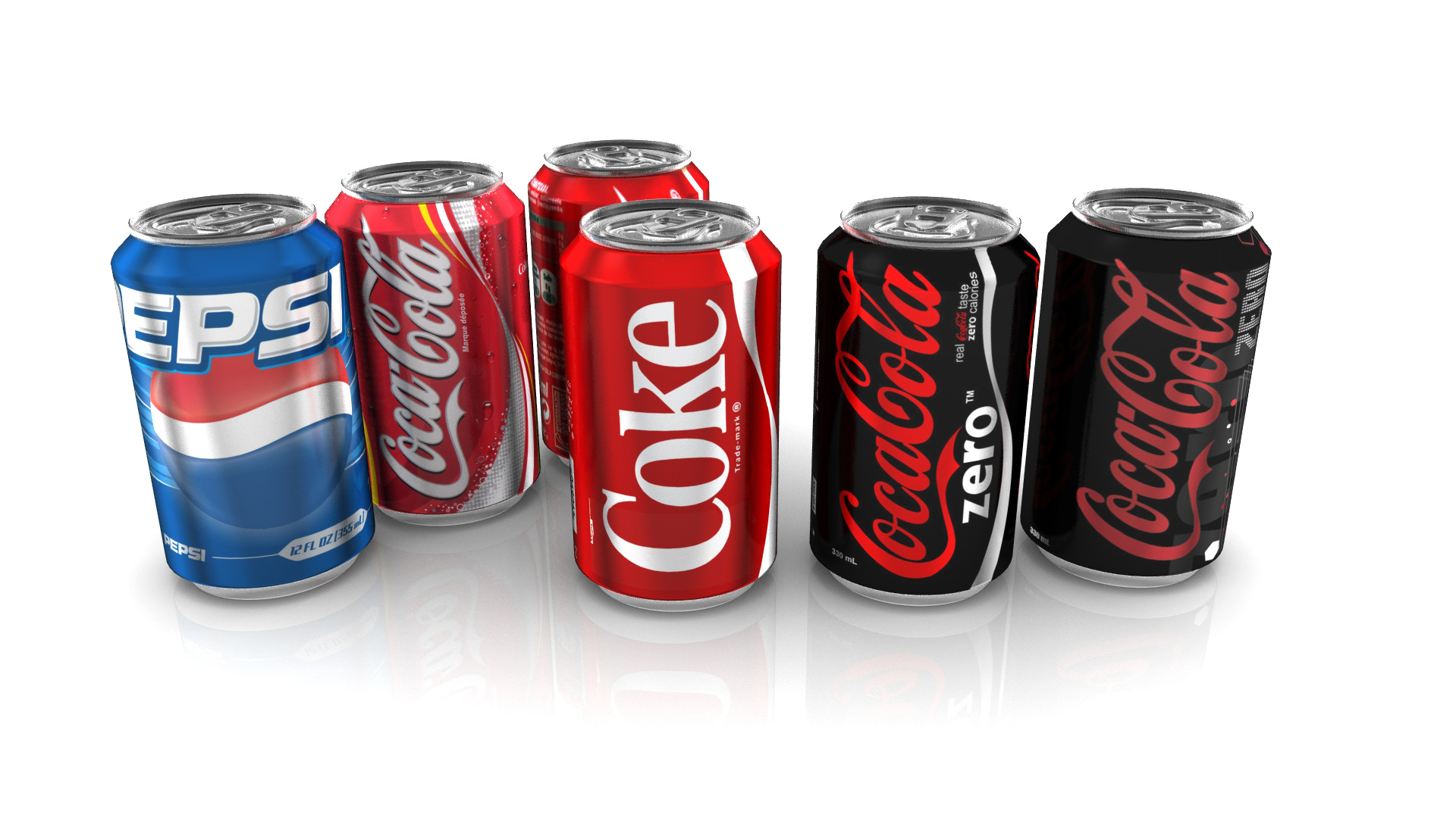 3d model soda cans cgtrader