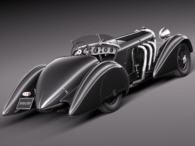Mercedes-Benz 710 SSK Trossi Roadster 1930 3D Model .max ...