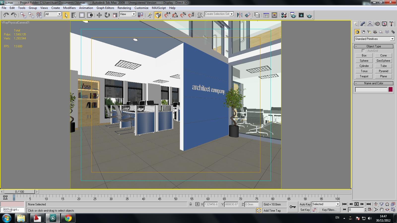 3d models detailed office interior scene 3d model max for Office design 3d max
